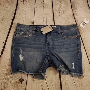 NWT Seven7 distressed denim shorts sz 16